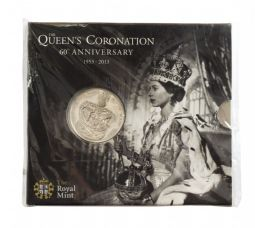 2013 Queens Coronation £5 Royal Mint Brilliant Uncirculated pack for sale